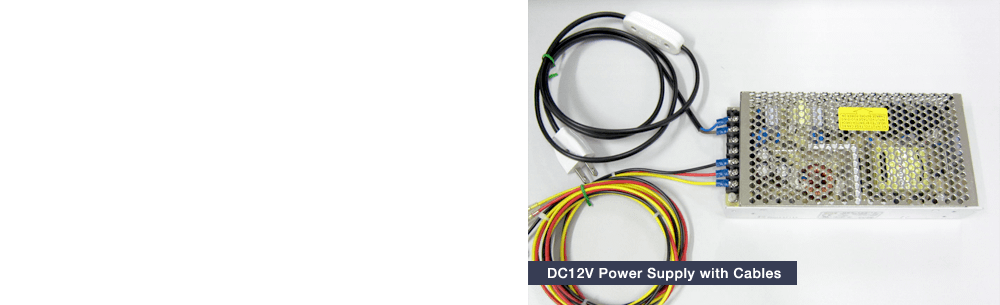 DC12V Power Supply with Cables
